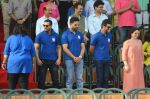 John, Ranbir, Abhishek Bachchan at the launch of Reliance Foundations Jio Gardens and organises Young Champs Football match on 27th May 2015