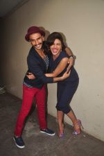 Priyanka Chopra, Ranveer Singh at Dil Dhadakne Do interviews in Mumbai on 27th May 2015