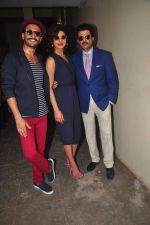 Priyanka Chopra, Ranveer Singh, Anil Kapoor at Dil Dhadakne Do interviews in Mumbai on 27th May 2015