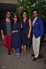 Priyanka Chopra, Ranveer Singh, Anil Kapoor, Shefali Shah at Dil Dhadakne Do interviews in Mumbai on 27th May 2015