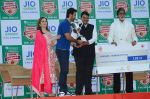 Ranbir Kapoor, Amitabh Bachchan at the launch of Reliance Foundations Jio Gardens and organises Young Champs Football match on 27th May 2015