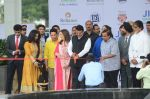Sachin Tendulkar, Amitabh Bachchan, Nita Ambani, Mukesh Ambani at the launch of Reliance Foundations Jio Gardens and organises Young Champs Football match on 27th May 2015 (159)_5566e783d37fe.JPG
