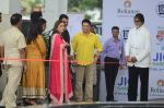 Sachin Tendulkar, Amitabh Bachchan at the launch of Reliance Foundations Jio Gardens and organises Young Champs Football match on 27th May 2015