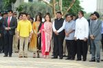 Sachin Tendulkar, Amitabh Bachchan, Nita Ambani, Mukesh Ambani at the launch of Reliance Foundations Jio Gardens and organises Young Champs Football match on 27th May 2015