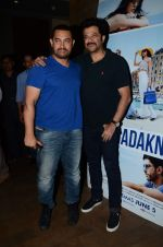 Aamir Khan,Anil Kapoor at Dil Dhadakne Do screening in Mumbai on 28th May 2015