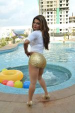 Rakhi Sawant bikini shoot for DJ Sheziwood in Mumbai on 28th May 2015