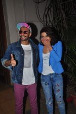 Ranveer Singh and Priyanka Chopra snapped at Mehboob  on 28th May 2015