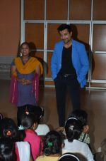 Ajaz Khan spends time with kids in Mumbai on 29th May 2015