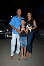 Chunky Pandey with wife and kid at Shiamak Dawar show in Mumbai on 30th May 2015