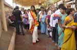 Mugdha Godse visits Siddhivinayak Temple for the Muhurat of her film on 4th June 2015