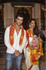Mugdha Godse, Kushal Tandon visits Siddhivinayak Temple for the Muhurat of her film on 4th June 2015