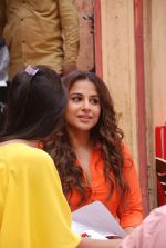 Vidya Balan at special integration shoot of hamari Adhuri Kahani with Tere Sheher Mein in Cine Classic Studio, Mira Road on 5th June 2015