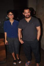 Aamir Khan, Kiran Rao at Lightbox for the screening of Dil Dhadakne Do on 6th June 2015