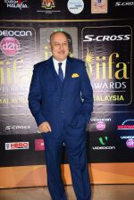 Anupam Kher at Dil Dhadakne Do premiere at IIFA Awards on 6th June 2015