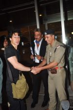 Tiger Shroff and Jackie Shroff leave for IIFA on 6th June 2015