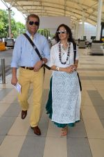 Shobhaa De snapped in Mumbai Airport on 10th June 2015