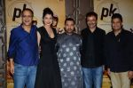 Vidhu Vinod Chopra, Anushka Sharma, Aamir Khan, Rajkumar Hirani, Bhushan Kumar at PK success bash in Mumbai on 10th June 2015