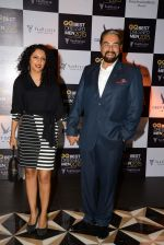Kabir bedi, Parveen Dusanj at GQ Best-Dressed Men in India 2015 in Mumbai on 12th June 2015