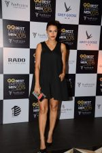 Neha Dhupia at GQ Best-Dressed Men in India 2015 in Mumbai on 12th June 2015