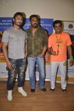 Vidyut Jamwal and Sunil Shetty attend a school event on 12th June 2015