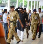 Babul Supriyo getting VIP treatment at the airport as he has turned politician in Mumbai on 16th June 2015