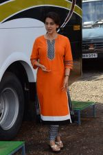 Juhi Chawla snapped on the sets of her new movie on 17th June 2015