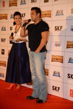 Salman Khan, Mini Mathur at Bajrangi Bhaijaan trailor launch in Mumbai on 18th June 2015