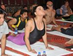 Rakhi Sawant on the occassion of  International Yoga Day on 21st June 2015
