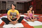 Sooraj Thapar and Shweta Khanduri on the occassion of  International Yoga Day on 21st June 2015_5586e8c9175ac.JPG
