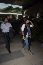 Shilpa Shetty and Raj Kundra snapped at airport as they arrive from Delhi on 24th June 2015