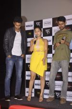 Vicky Kaushal, Shweta Tripathi at Masan trilor launch in Mumbai on 26th June 2015 (23)_558d4c99df1f8.JPG