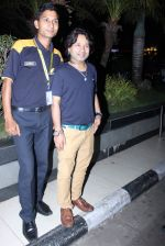 Kailash Kher snapped at airport in Mumbai on 26th June 2015