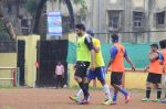 Abhishek Bachchan, Ranbir Kapoor snapped at all star football practice session in Bandra, Mumbai on 28th June 2015