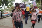 Rajat Kapoor supports the FTII cause and joins the protest at carter road on 2nd July 2015