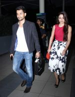 Soha Ali Khan, Kunal Khemu snapped at domestic airport in Mumbai on 2nd July 2015