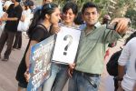 supports the FTII cause and joins the protest at carter road on 2nd July 2015
