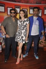 Aditi Rao Hydari, Arshad Warsi, Amit Sadh at Guddu Rangeela team at Red Fm in Lower Parel on 3rd July 2015