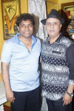 Johnny Lever, Rajesh Puri at Sab Golmaal Play premiere in Rangsharda on 5th July 2015