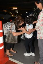 Neetu Singh Kapoor, Riddhima Sahani snapped at international airport in Mumbai on 5th July 2015