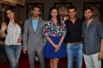Daisy Shah, Zarine Khan, Sharman Joshi and Karan Singh at Hate Story 3 on location in Mumbai on 6th July 2015