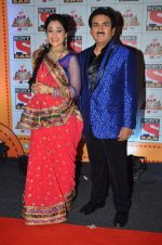 Dilip Joshi, Disha Wakani at SAB Ke Anokhe Awards in Filmcity on 9th july 2015