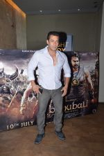 Salman Khan at Bahubali screening in Lightbox on 12th July 2015