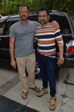 Anees Bazmee, Nana Patekar at Welcome Back song shoot in Aarey Milk Colony on 13th July 2015