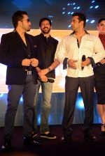 Salman Khan, Kareena Kapoor, Kabir Khan, Mika Singh at Bajrangi Bhaijaan promotions in Delhi on 14th July 2015