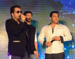 Salman Khan, Mika Singh, Kabir Khan at Bajrangi Bhaijaan promotions in Delhi on 14th July 2015