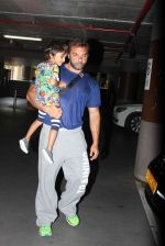 Sohail Khan, Seema Khan and Kids snapped as they return from holidays in International Airport on 15th July 2015