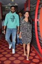 Abhishek Bachchan, Asin Thottumkal at Radio Mirchi studio for promotion of their film All is well in Lower Parel on 20th july 2015