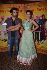 Tia Bajpai, Satyajeet Dubey at film Baankey Ki Crazy Baraat press meet in Mumbai on Monday, July 20th, 2015