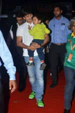 Vivek Oberoi with son at Pro Kabaddi day 3 in NSCI on 20th July 2015