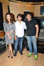 Kajal Aggarwal at recording with Amit Trivedi for Do Lafzon Ki Kahani in Goregaon on 21st July 2015